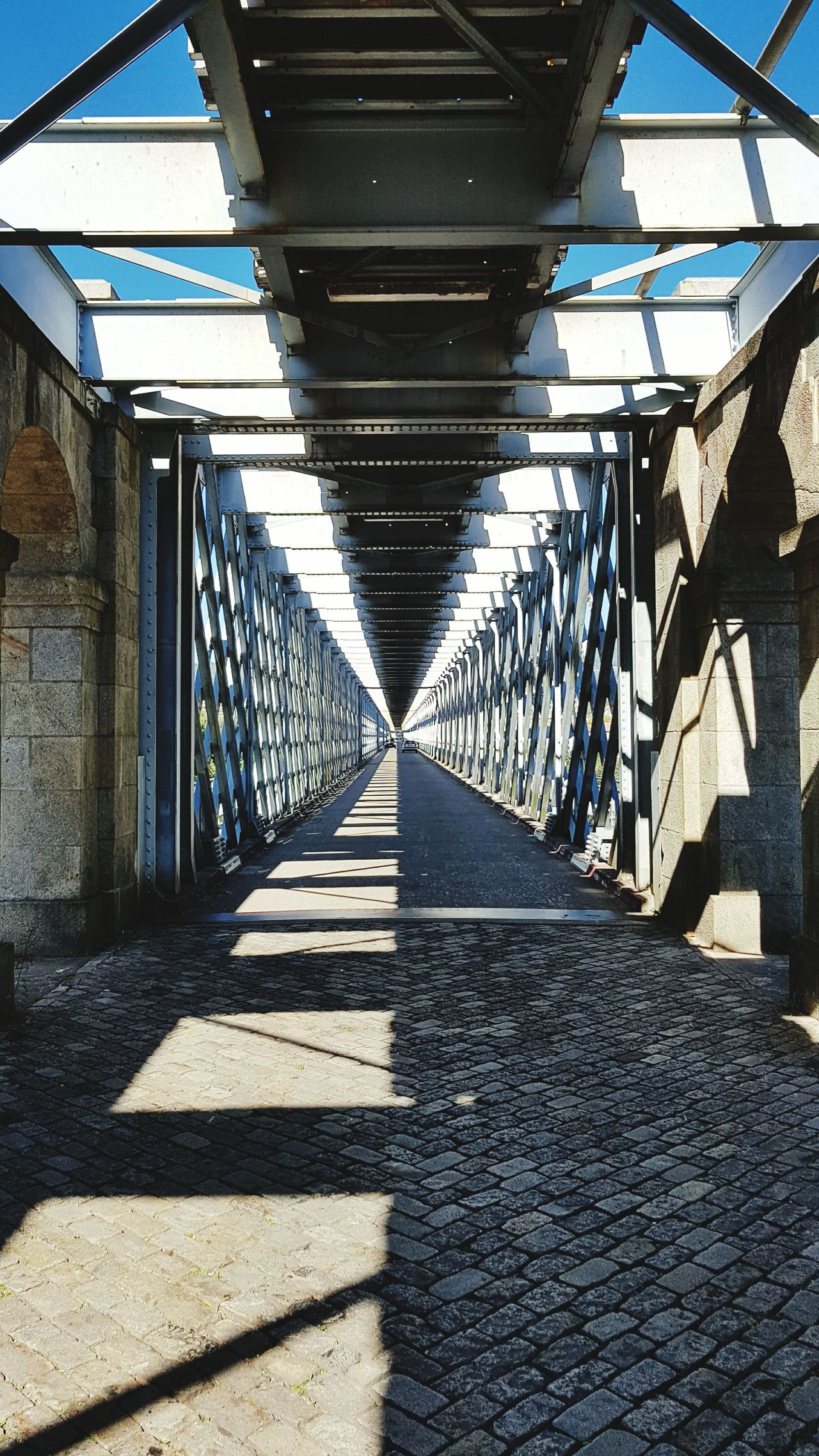 Ponte de Valença Shadow Architecture Bridge - Man Made Structure Day Diminishing Perspective Bridge The Way Forward