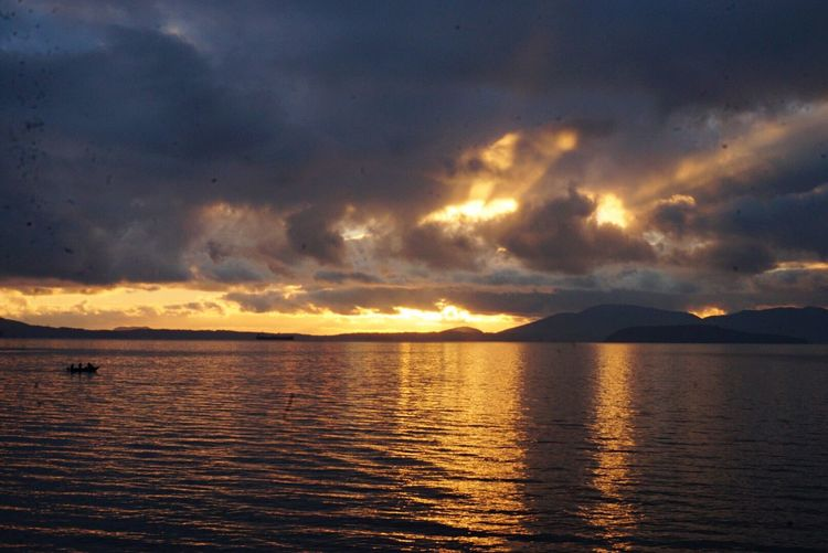 Took some snazzy pictures the other day Sunset Water Sky Sea Beauty In Nature Nature PNW Sony A5000 Chuckanut