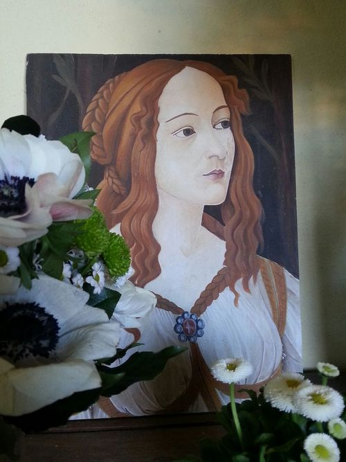 Botticelli & flowers Art Bymyhand Painted