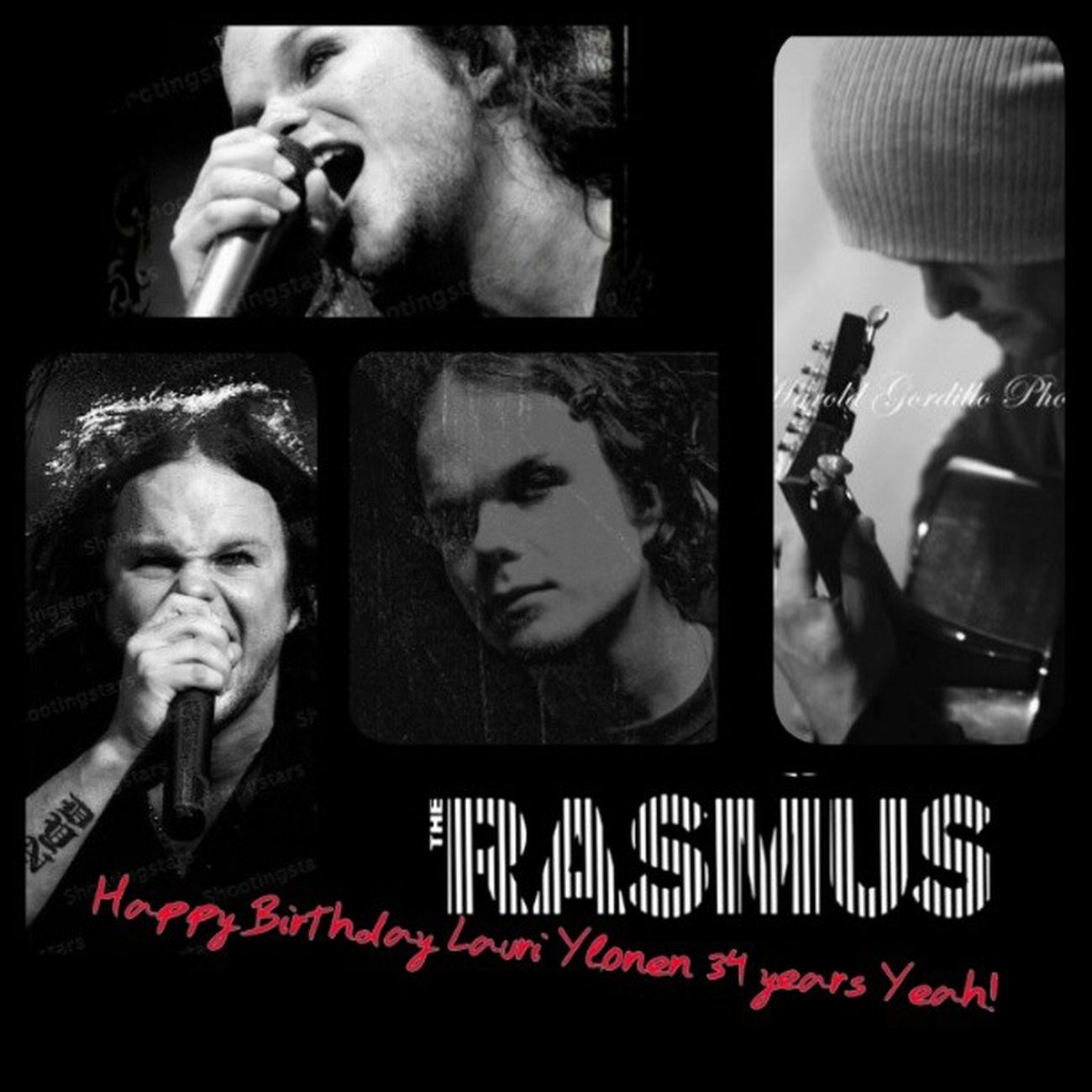 Happy Birthday Lauri Ylonen 34 years Yeah! LauriYlönen Happyday 34Years Fucking rockStar Iloves Beautiful Men TheRasmus FuckYeah BlackWhite ♥♥♥♥♬♪★ :D