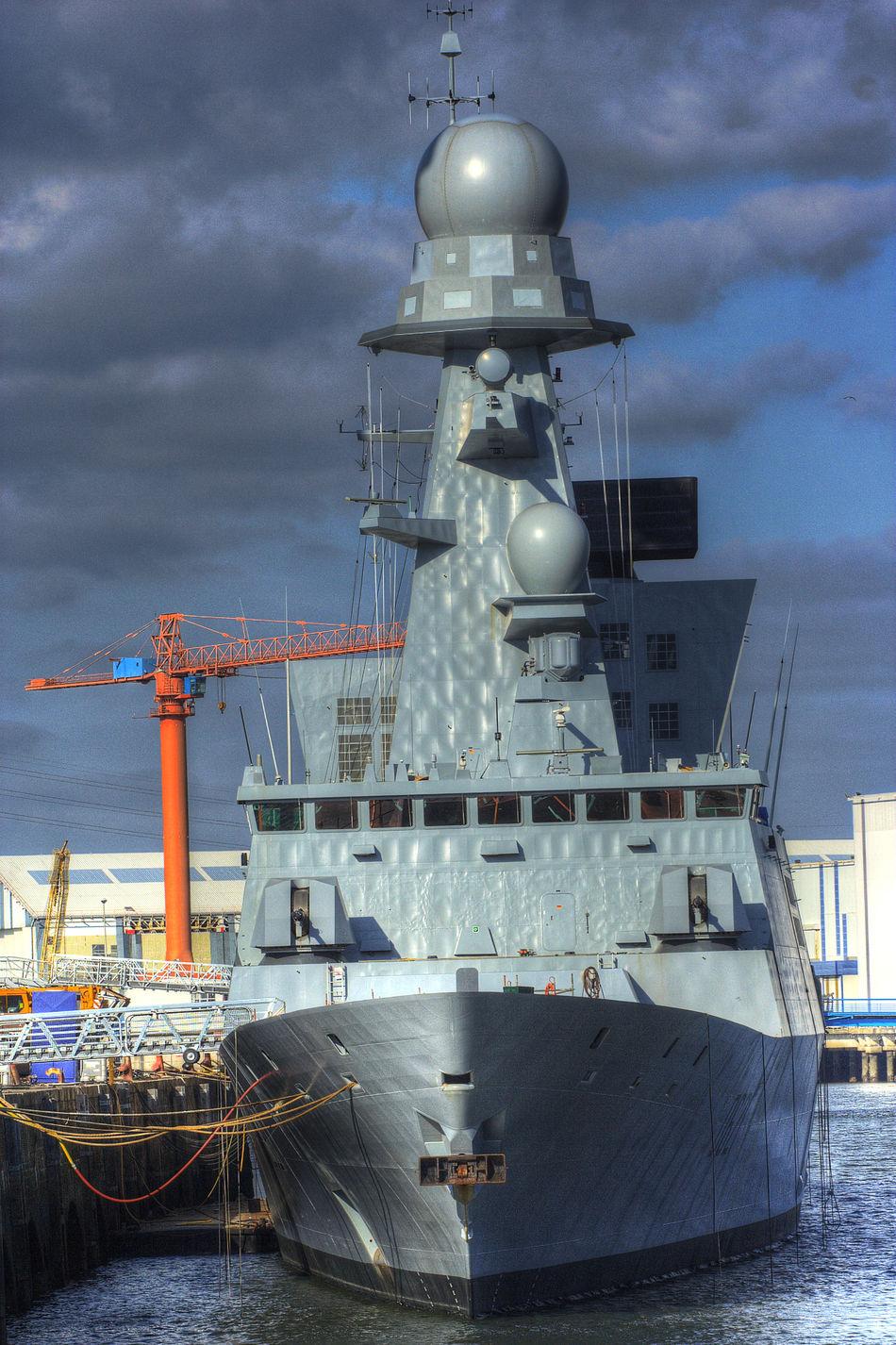 Arsenal Lorient Boat Bretagne Crane - Construction Machinery Fregate Harbor Industry Lorient Militaire Morbihan Navire Water