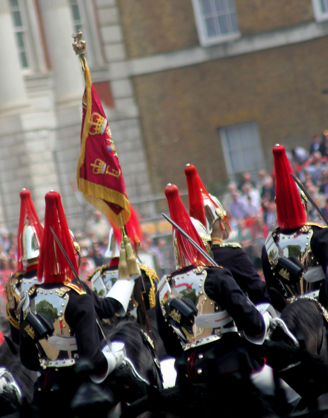 Trooping of The Colour London England Architecture Building Exterior Built Structure Cavalry Close-up Day England Flag Horseguards Hourseguards Pa Household Cavalry London No People Outdoors Patriotism Red Spirituality Tourism Trooping Of The Colou Trooping The Colour