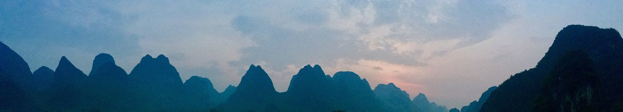 Panoramic View Of Silhouette Mountains Against Sky