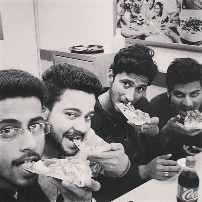 Hahaha Pizza @ Dominoz Khush Dj Abhi 😀😀😀😉 enjoyed a lot. Just reached Hostel hahahaha: 😉😜😝😝😉😁