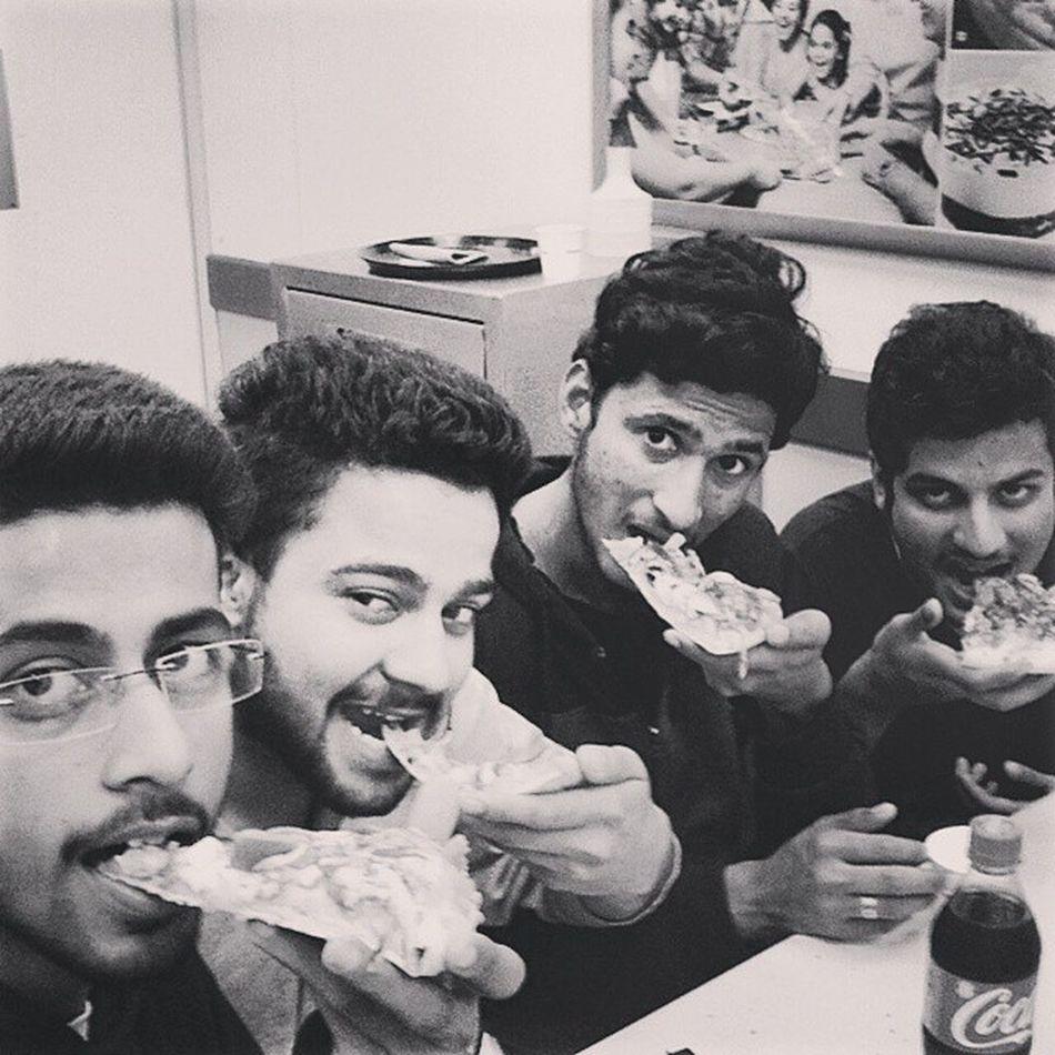Hahaha Pizza @ Dominoz Khush Dj Abhi 😀😀😀😉 enjoyed a lot. Just reached Hostel hahahaha: 😉😜😝😝😉😁