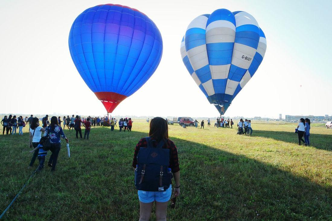 First time to see this kind of view ☺ PIHABF2016 Philippineinternationalhotairballoonfestival Eyeem Philippines Clark Field Pampanga Hotairballoon Balloonfestph Hot Air Balloons Hot Air Balloon Festival