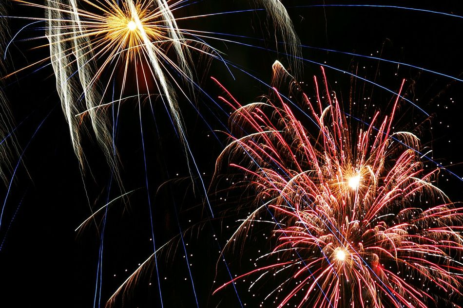 Beautiful stock photos of feuerwerk, Horizontal Image, Red, Vibrant Color, arts culture and entertainment