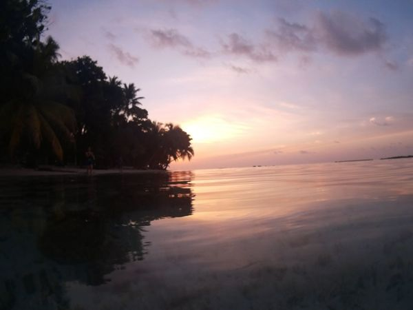 Vilamenhoo Island, Maldives Relaxing Enjoying Life Tropical Paradise Natural Beauty! Palm Trees Beautiful Surroundings Water Reflections Sunset Holiday Landscapes With WhiteWall Been There. Done That.