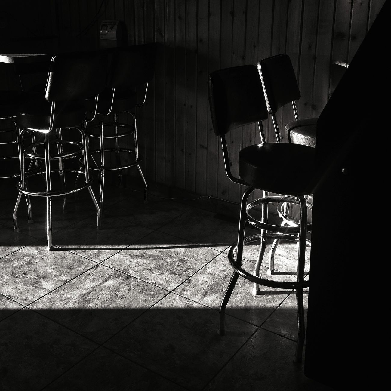 Dive Bar Drinking Light Blackandwhite