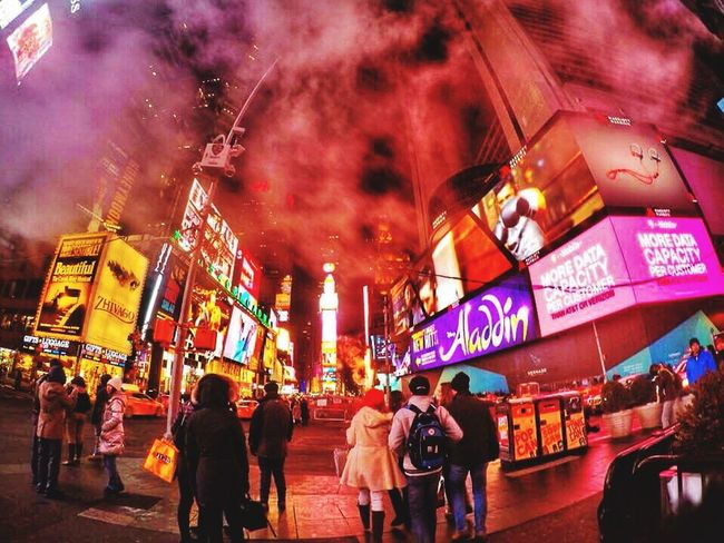 Foggy Time Square Timesquare Timesquarenyc New York First Eyeem Photo