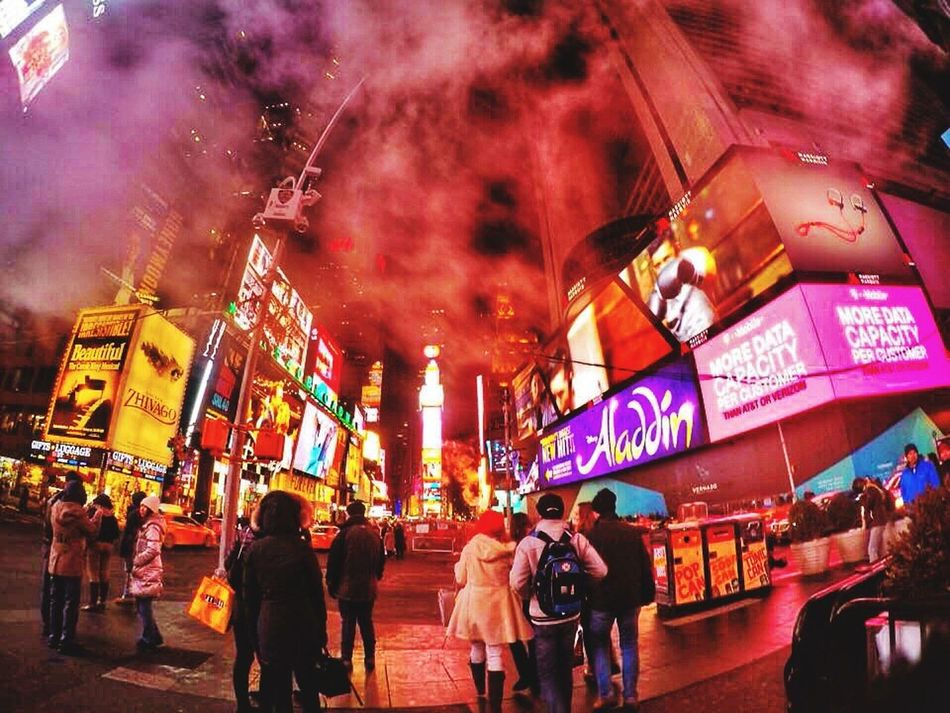 Foggy Time Square Timesquare Timesquarenyc New York First Eyeem Photo