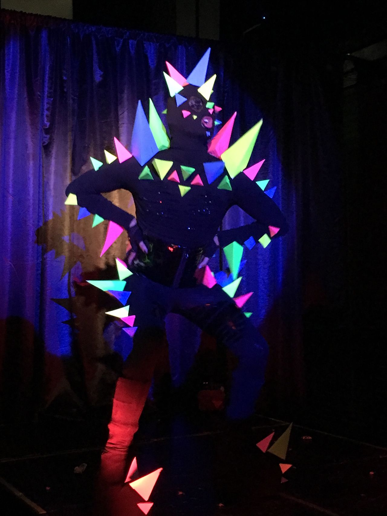 Indoors  Celebration Illuminated Curtain Multi Colored No People Drag Queen Club Kid Costume Dinosaur Gay Pride Gay Pride Cabaret Queer Club Bar Party Lip Sync Lgbt Gay Bar Performance Night Close-up