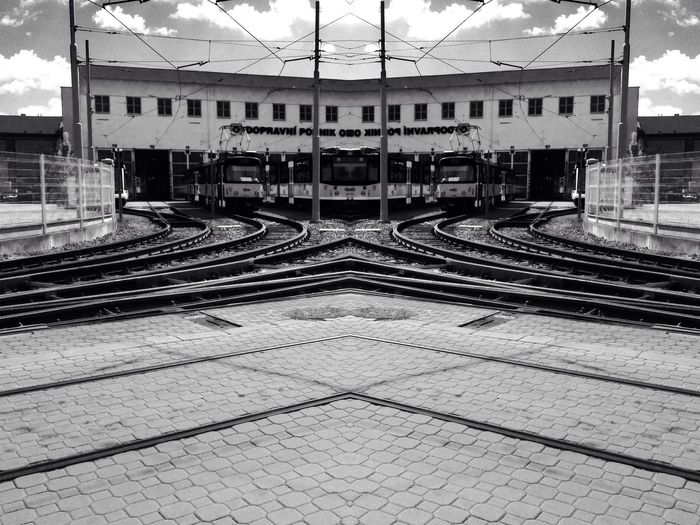 Blackandwhite Landscape Streetphotography Urban Geometry public transport in other view angle :)