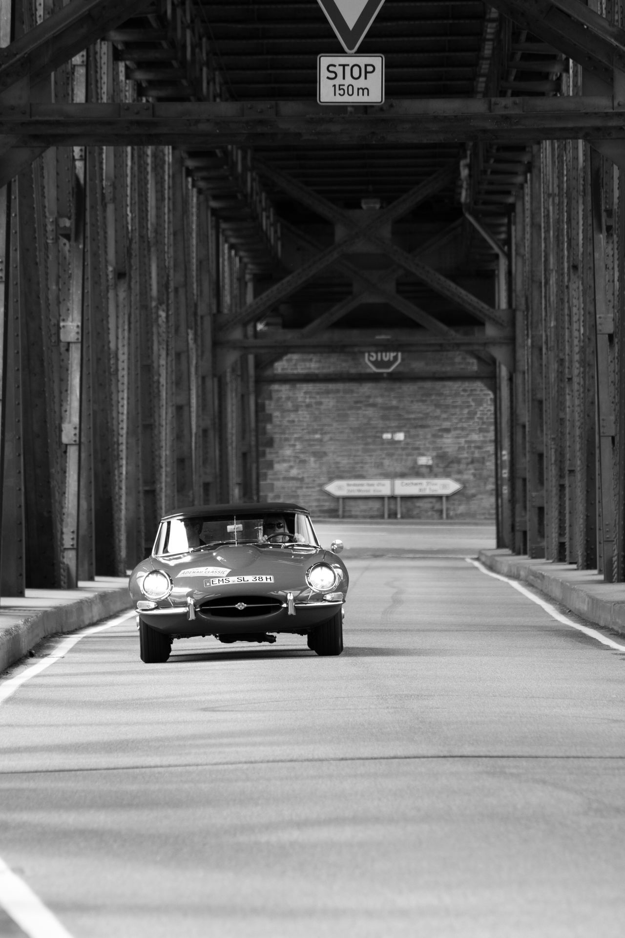 Architecture Black And White Bridge - Man Made Structure Built Structure Car E-type Historic Car Jaguar E-Type Legendary Car Oldtimer Outdoors Transportation