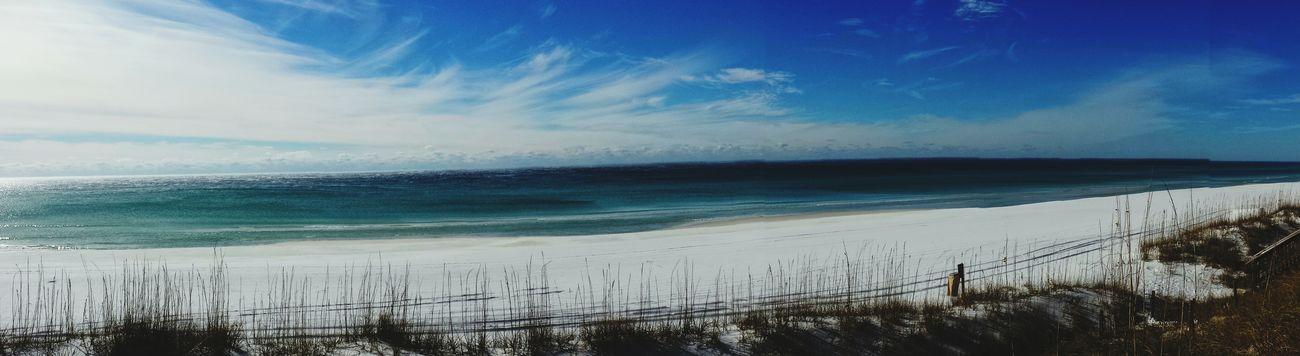 Sugar Sand Beach Crystal Blue Water Coastal Beauty