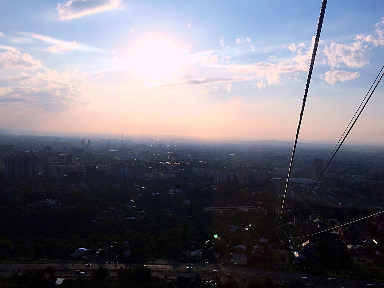 Sky Outdoors City Beauty In Nature Cityscape Day Nature No People Cableway Cable Car