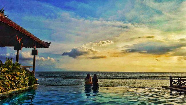 Sunset Sea View Poolside Candidasa Bali