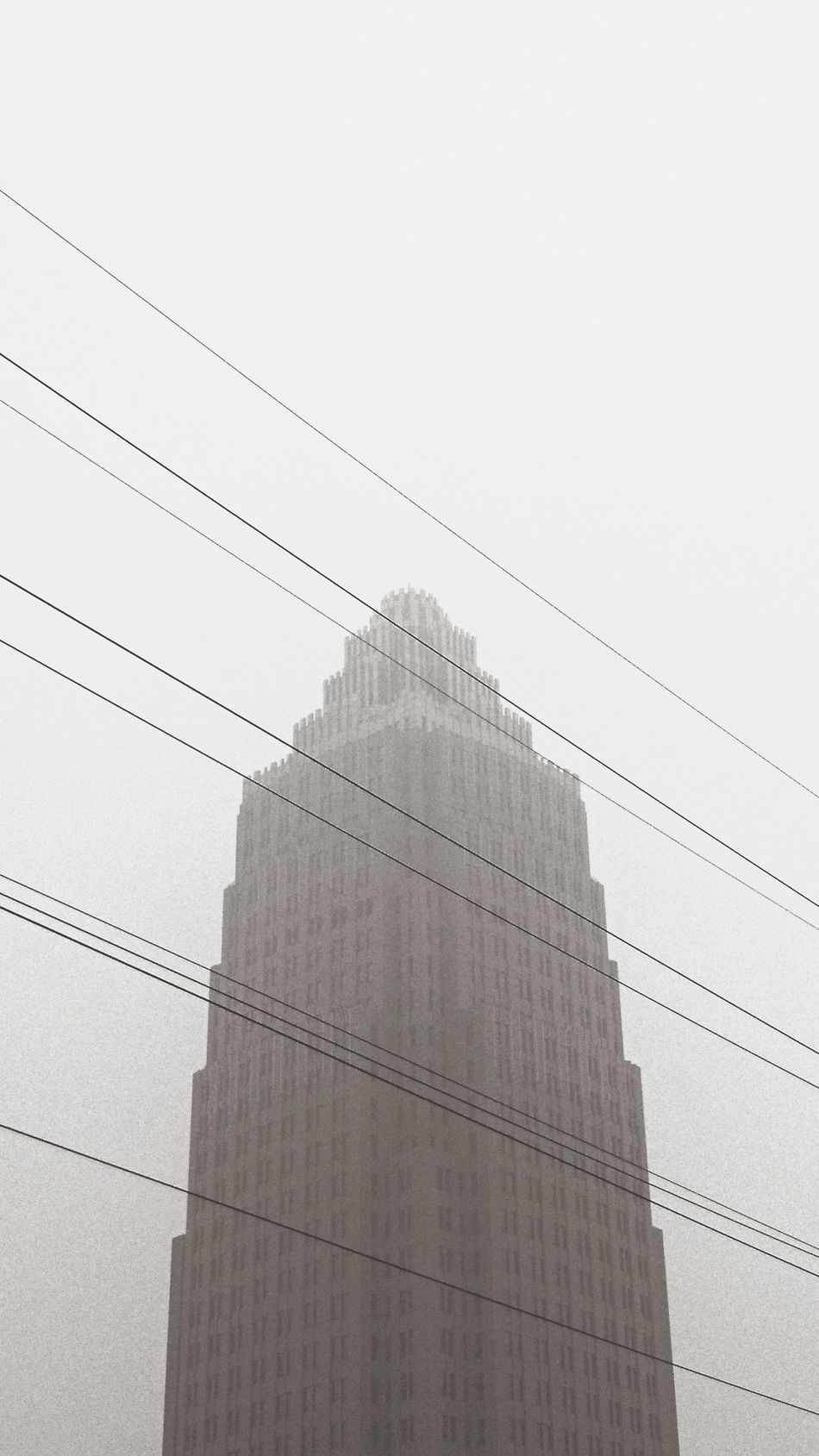 No People Cityscape City Tower EyeEm Best Shots Foggy Smog Smog In The Sky China Architecture Built Structure Building Energy Cable Minimalism Urban Urban Sky Sky High Low Angle View Energy Black & White Blackandwhite Electric Wire Electric Wires