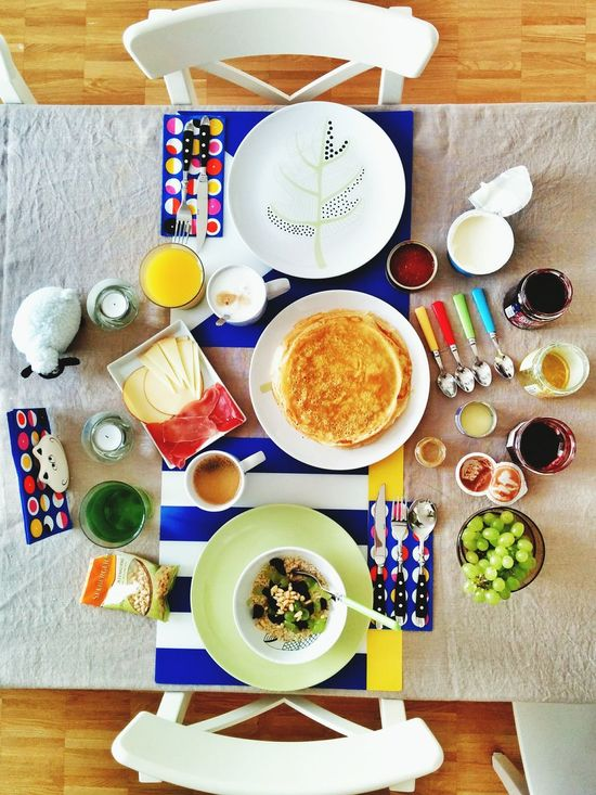 Russian with a Spanish touch Breakfast. Gotta love those Blinis.