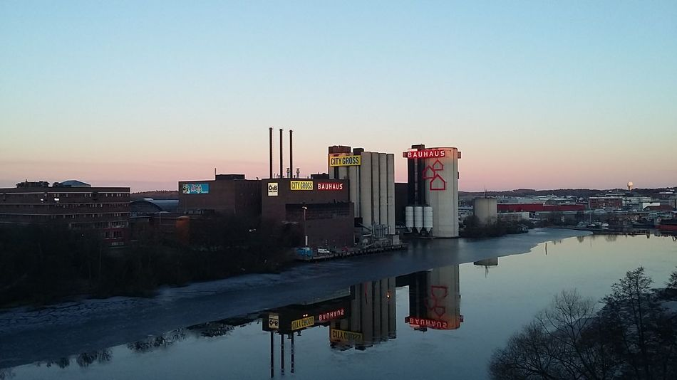 The industry reflection 📷🏭 Industry Reflection Architecture Europe Sweden Sverige Stockholm Todays Hot Look Beautiful Water Photo Foto Bromma Solna