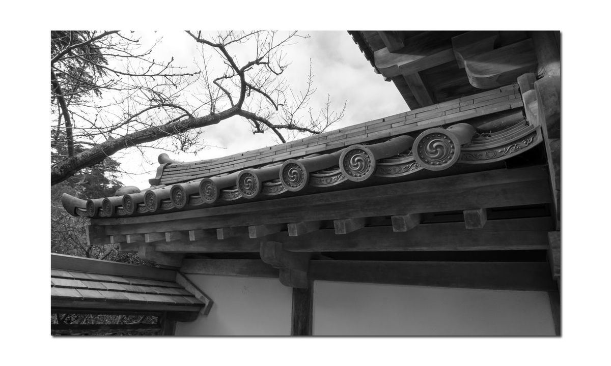 Japanese Tea Garden Entry 4 B&W San Francisco Golden Gate Park Architecture Black And White Blackandwhite Photography Black And White Collection