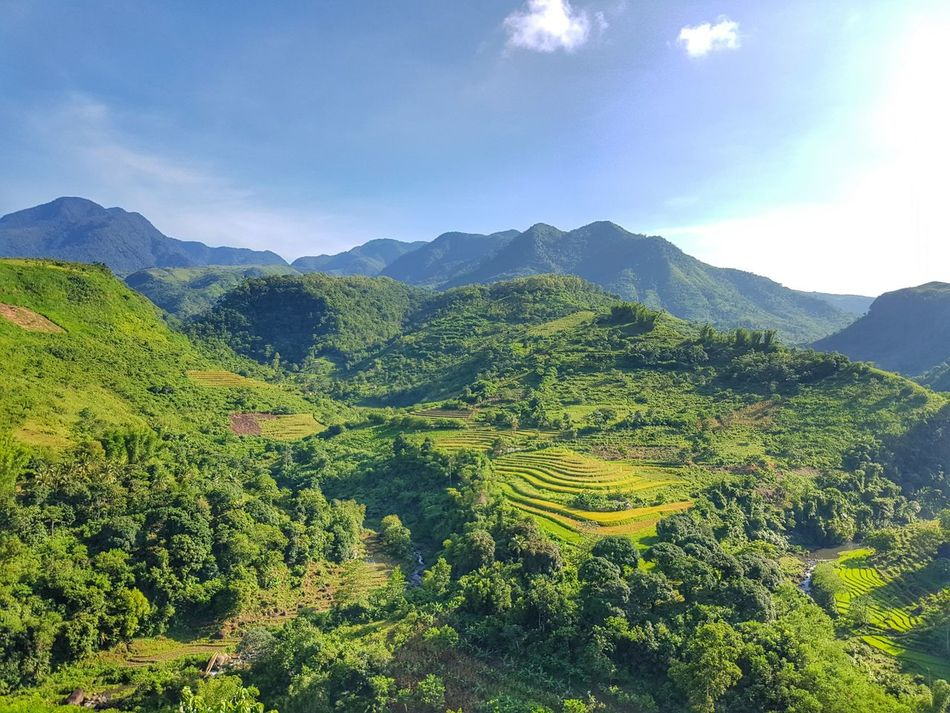 Mountain Landscape Scenics Tranquil Scene Beauty In Nature Green Color Cloud - Sky Physical Geography Outdoors Solitude Enjoying Life Beautiful Nature Travels Nice Atmosphere Nature Photography Choosephilippines Nature Photograhy Samsungphotography Philippines Travel Photography Photography Non-urban Scene Green Plant Nature