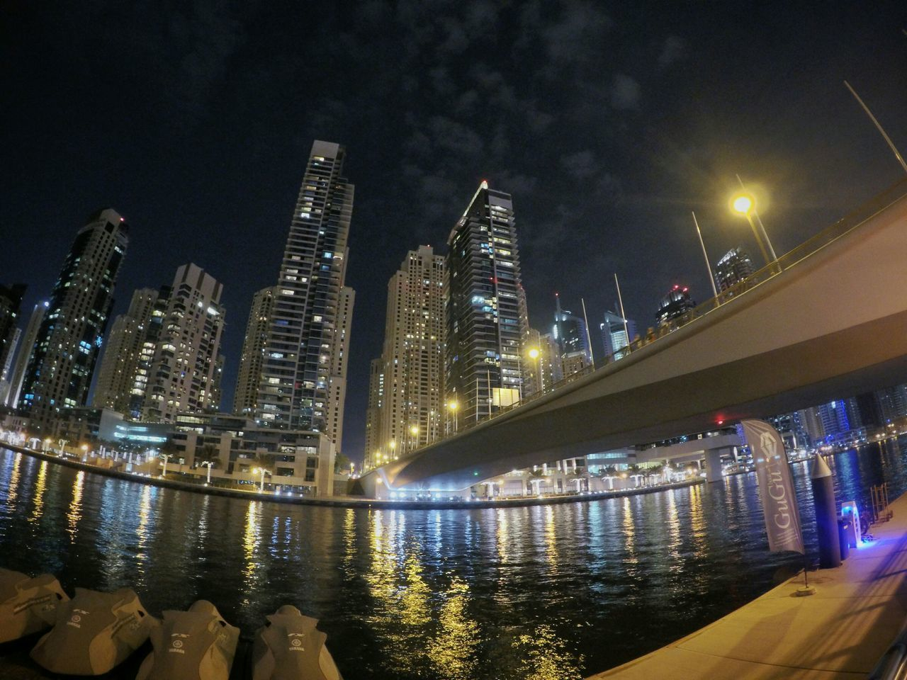 Dubai Marinayachtclub Dubaimarina Yacht UAE Bridge Night Lights