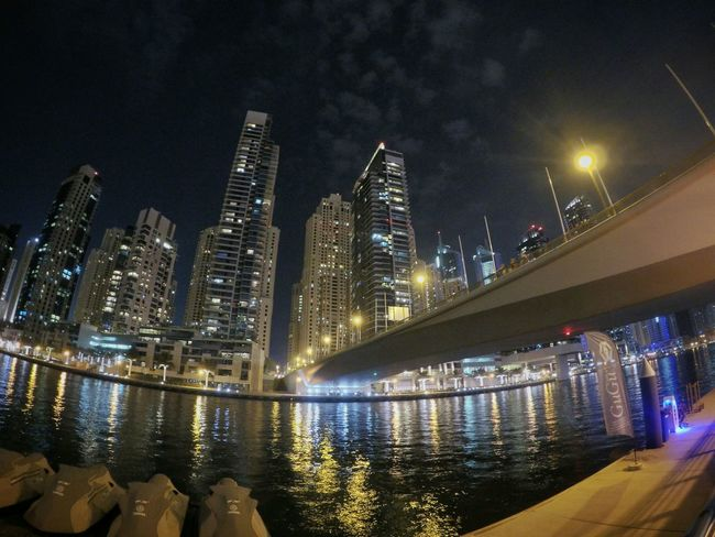 Dubai Marinayachtclub Dubaimarina Yacht UAE Bridge Night Lights