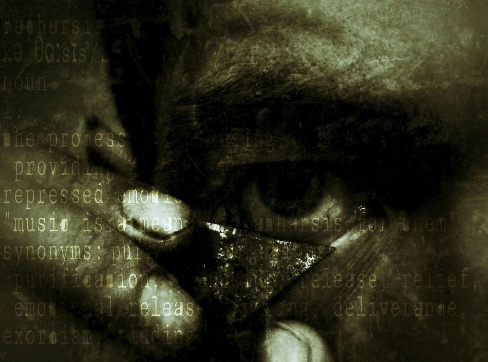 Close my eyes.. Hello World People Art Abstract My Soul Is Stained... Abstract Art Darkart Black & White Self Portrait