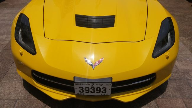 Corvette Car Yellow Dubai Followme Sport Cars Speed Eyembestpics Eyemphotography LGG3 LGg3photography Streetphotography Picoftheday Photooftheday Android