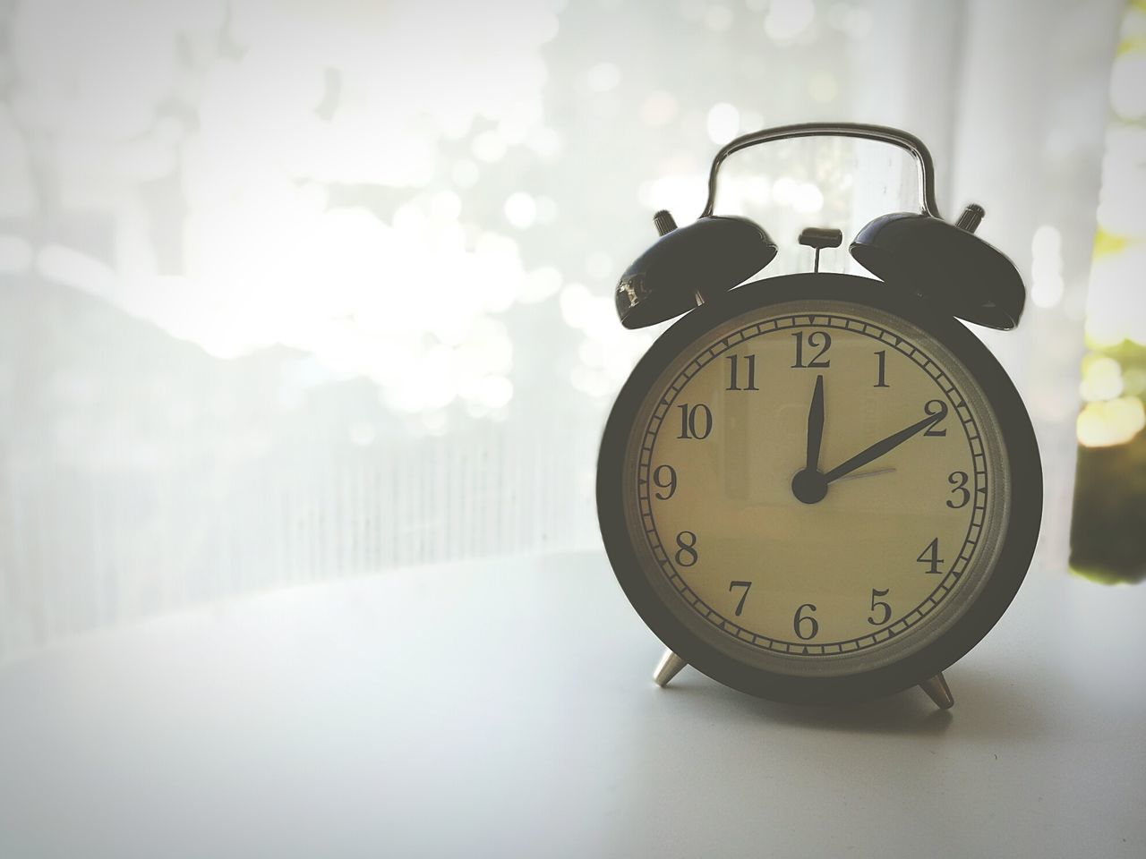 Time Clock Alarm Clock No People Black Color Cold Temperature Minute Hand Day Hour Hand First Alarm Times Single Object AlarmClock Noon Time Afternoons Nature Close-up Clock Face