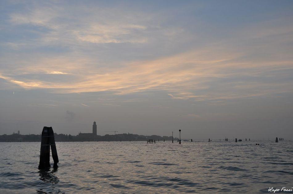 #lagoon #sunset #sunset #sun #clouds #skylovers #sky #nature #beautifulinnature #naturalbeauty #photography #landscape #Venice #Venezia #Italy #Italia #Europe Outdoors Sea Sky Water