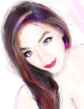 Digital drawing of Susette Digital Art Art Drawing Beauty