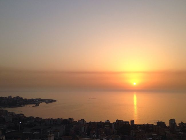 Lebanon Mediterranean Sea Sunset Dusk In The City East Mediterranean
