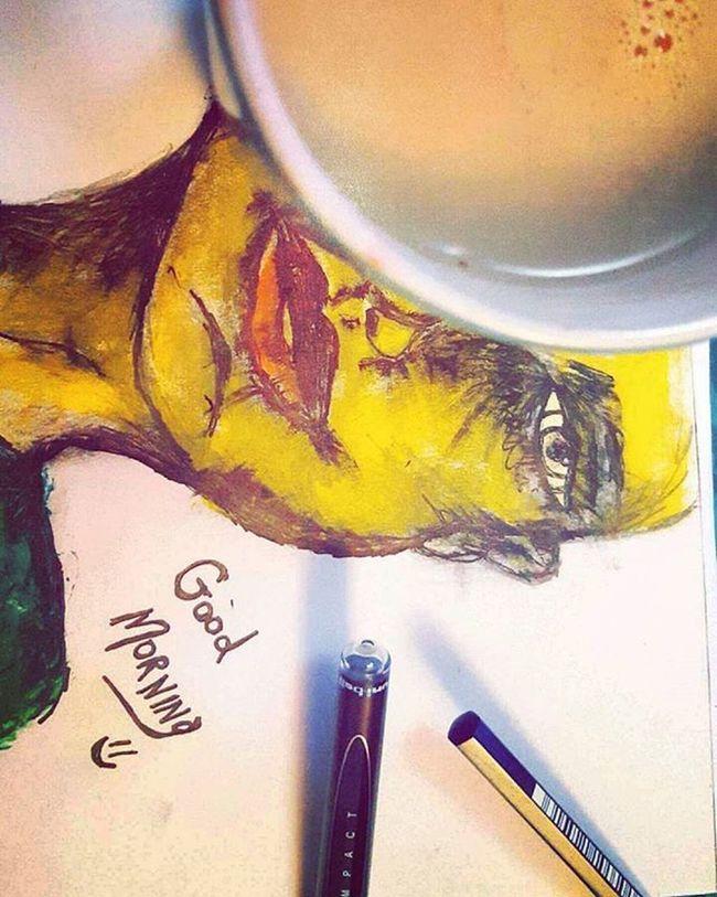 Good morning sunshine ⚘ Goodmorning Sabahalkhair Wokeupcreative Drawing Butfirstcoffee Arty Art Idontcare Iloveit Scrabble Stickman Beenbulking Abudhabi UAE Intaart Havealovelyday