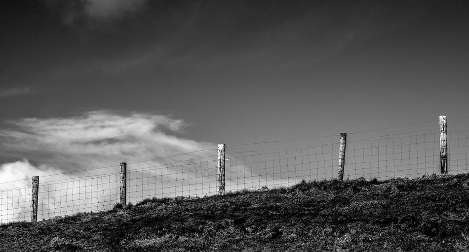 and there behind ? .. Calm Cloud Cloudly Deich  Dike Deichgraf Eye4black&white  EyeEm Best Shots - Black + White Fence Grass Hamburch Hamburg Horizon Over Water Light And Shadow Lights Nature No People Norddeutschland Open Edit Scenics Sky Sky And Clouds Skyscape Urban Nature Weather