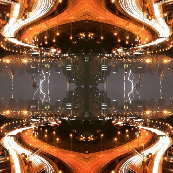 The reactor district of the off-world colony Metrominor Ex-Terra. Surrealist Surreal Bladerunner Cityscape Skyline Mirror Mirroring Scify Dystopian Future Futurist Urban Posturban @mudede @skaterdad453