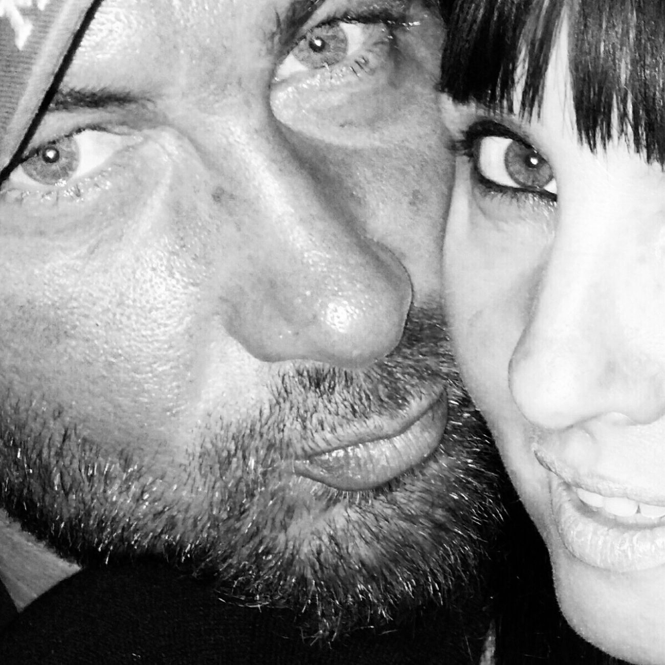 Two People Headshot Looking At Camera Human Face Portrait Real People People Photooftheday Black And White Collection  Blackandwhitephotography Black&white Black And White Portrait Togetherness Self Portrait Selfportrait Thats Me  Selfies Selfie Portrait Selfıe Thats Me!