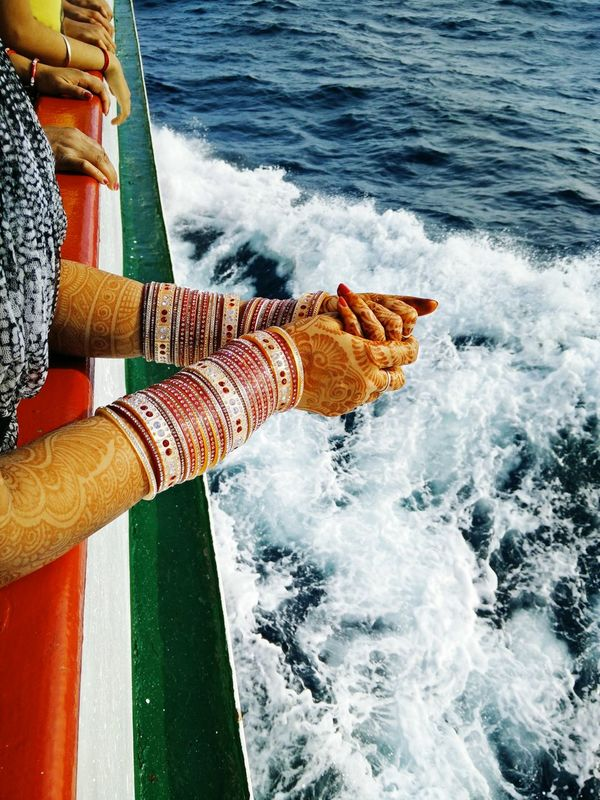 Awesome Sea View Banglesforlove Women Around The World Bangles Colorful MehndiDesign Sea Water Be. Ready. EyeEmNewHere Be. Ready.