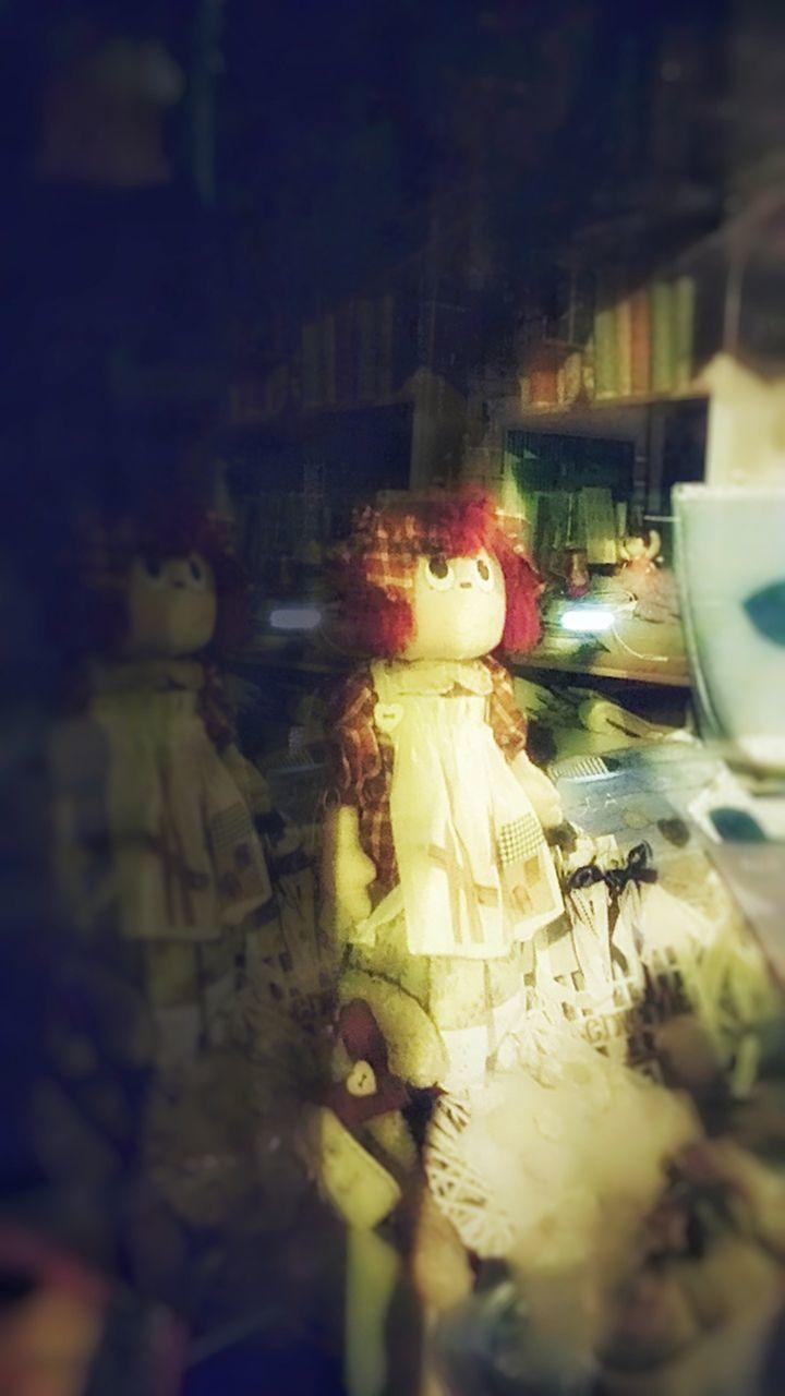 human representation, indoors, selective focus, no people, close-up, figurine, food, night, freshness