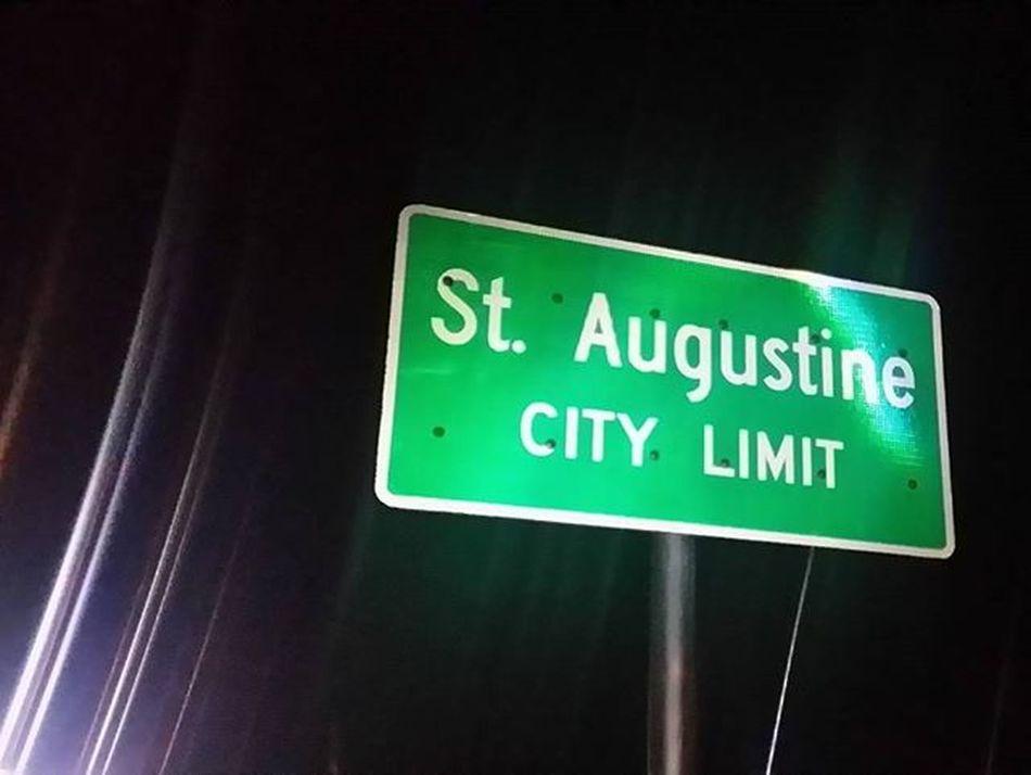 Staugustine Florida Sign Signs Nightlights Picoftheday Lightlines Lightingup