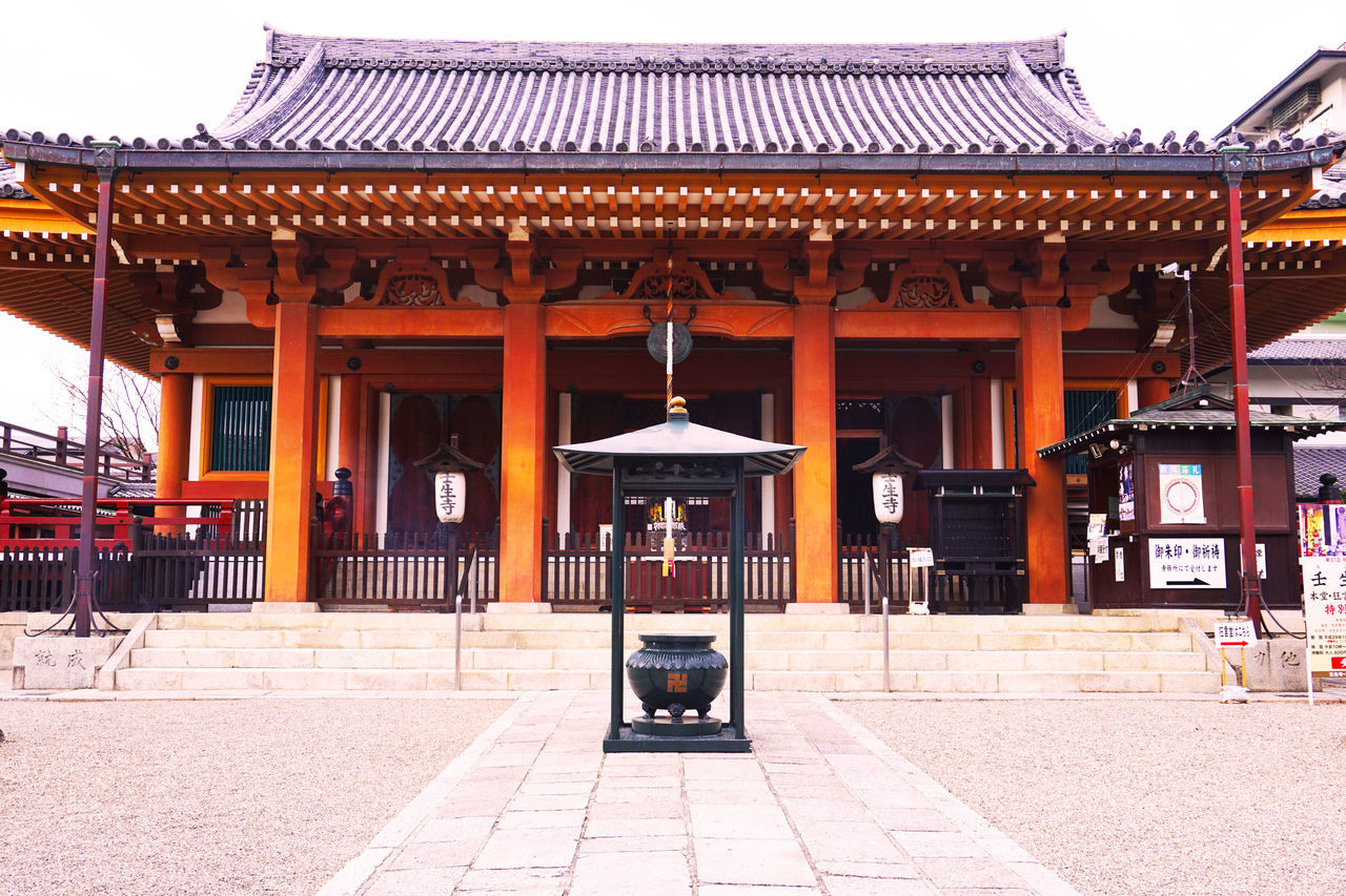 2017 Architecture Building Exterior Built Structure Cultures Japan Kyoto Mibudera Place Of Worship Red Shinsengumi Sky Temple 京都 壬生寺 壬生浪士組 新選組