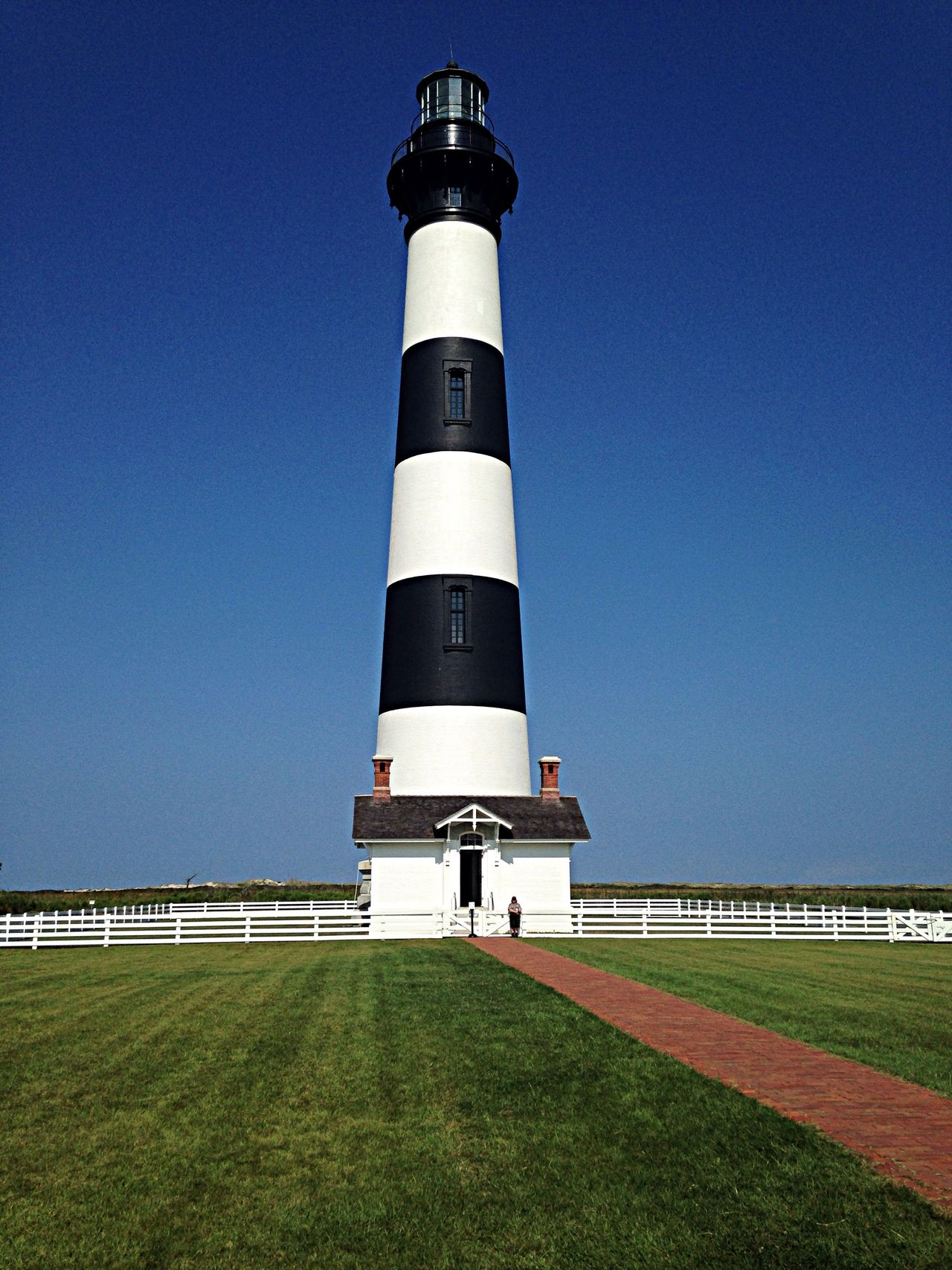 Bodie Island Lighthouse - part of the Cape Hatteras National Seashore. Traveling OBX14 Lighthouse North Carolina