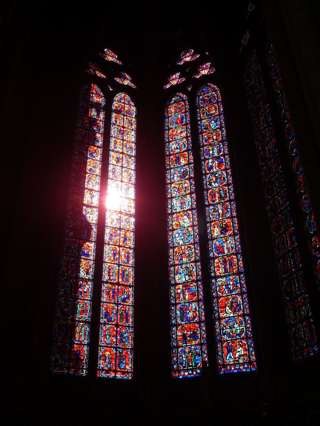 Stained Glass Stained Glass Window Light Colours Amiens Cathedral Cathedral Des Notes Dames Place Of Worship Church