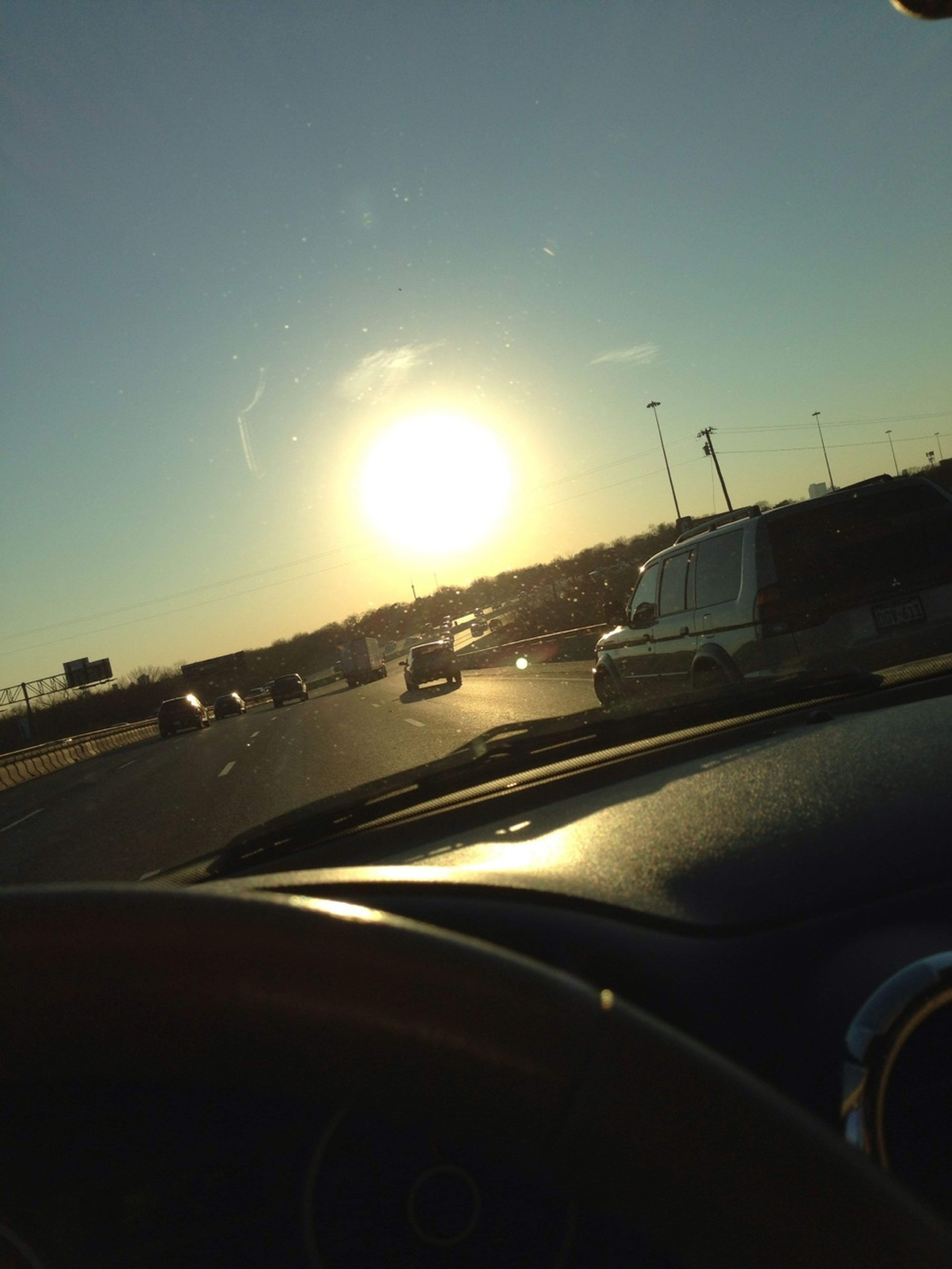 Driving With This Sun In My Face☀