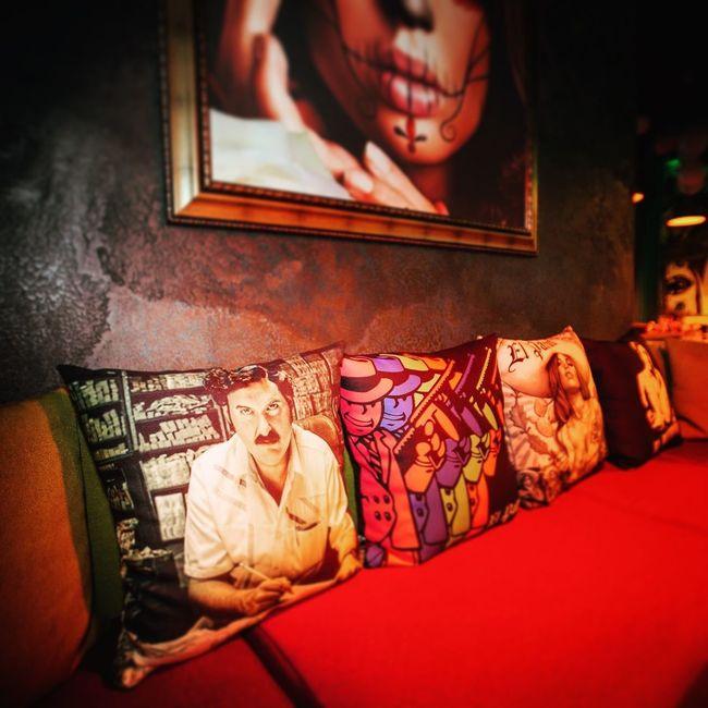 "Had a chance to photograph the 1 year aniversarry of this great local bar ""El Patron"" viva Escobar!;)😎 Interior Bar Nightlife Pillows Club Escobar Design Interior Design Interiors Night"