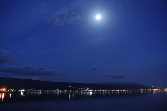 長野県 諏訪市 諏訪湖 夜景 Japan Nagano Suwa Lake Suwa Lake Night