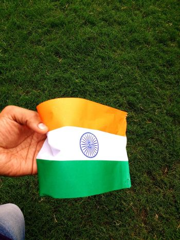 HAPPY INDEPENDENCE DAY TO MY ALL INDIANS EyeEm Selects Grass Green Color One Person Human Body Part People One Man Only Day Holding Adult Human Hand Outdoors Golf Sport Only Men Adults Only Men Green - Golf Course Golf Course Close-up Golf Club Indiapictures Indian Flags In The Wind  Flags In The Wind