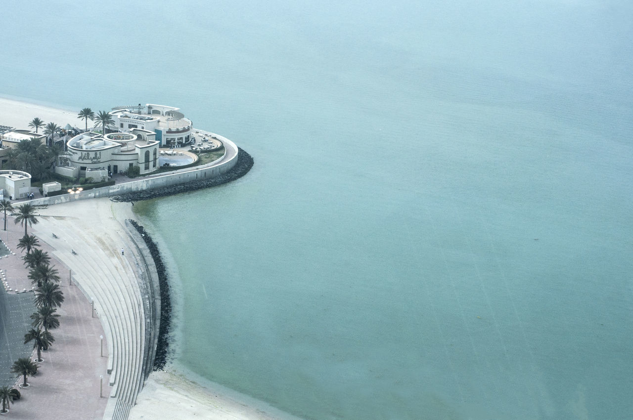 Beauty In Nature Coastline Flying High Kuwait Pastel Colors Scenics Seaside Tranquility View From Above