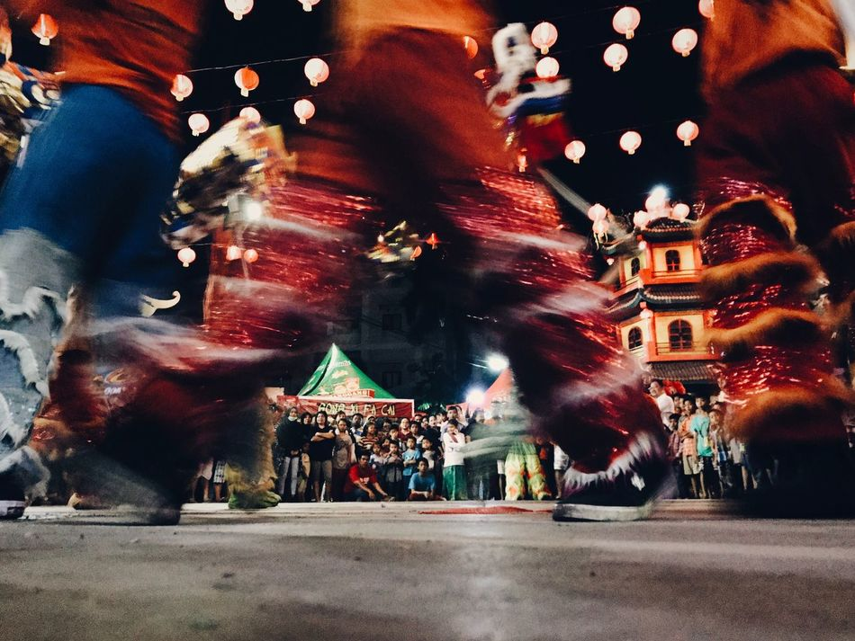 The Red Pants Blurred Motion Illuminated Celebration Night Large Group Of People Motion Travel Destinations Real People Leisure Activity Traditional Festival Built Structure Outdoors Women Men Architecture Crowd Chinese New Year Asian Culture